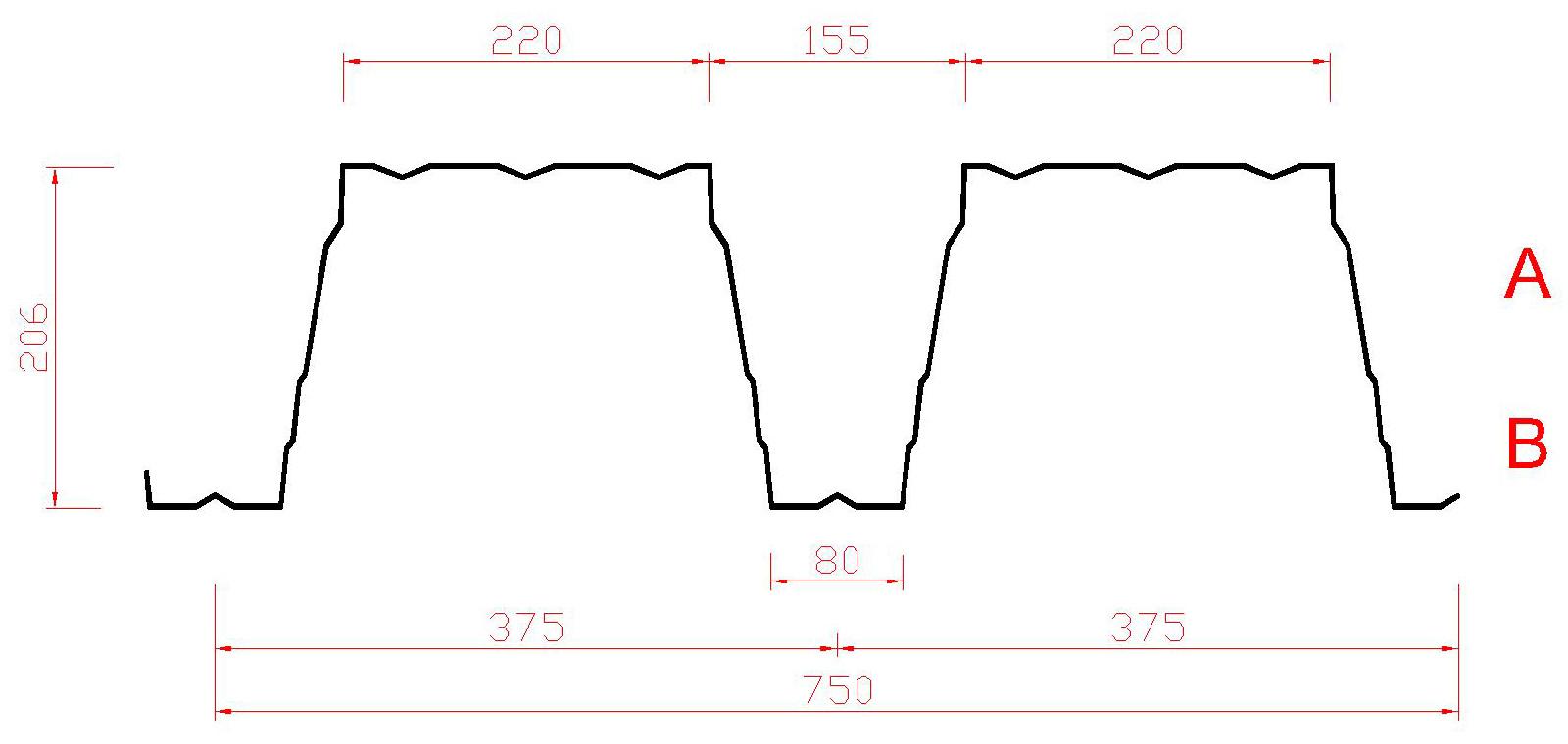 Trapezprofil 206 / 375