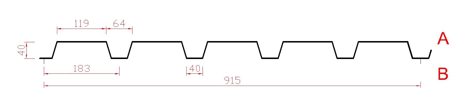 Trapezprofil 40 / 183