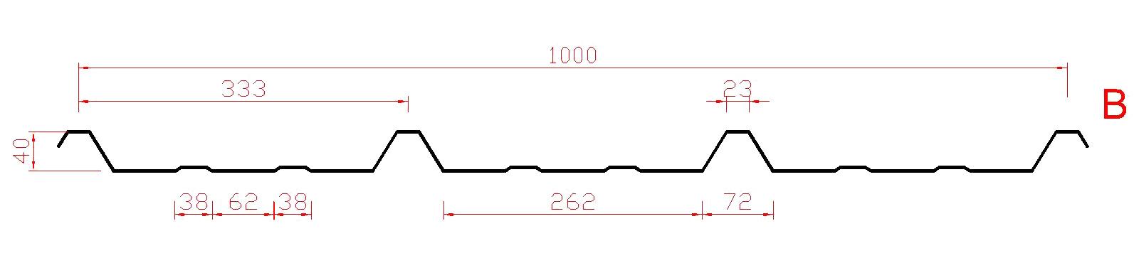 Trapezprofil 40 / 333